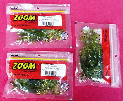 27x Zoom Bait 6-Inch Lizard Bait JUNEBUG RED, THREE x Pack of NINE