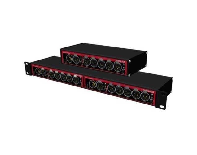 Swisson DMX & RDM Splitter, Box 5 pin ( 1 in, 1 thru & 5 out)