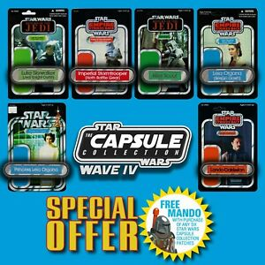 FREE MANDO OFFER! Vintage Kenner STAR WARS Name Capsule Wave IV patch set of 6