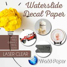 Laser Clear Waterslide Decal Transfer Paper For White Surfaces 5 Sheets 85x11