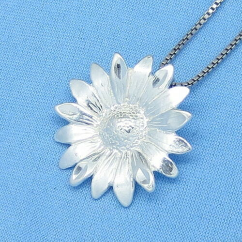 Flower Sterling Silver Sunflower Necklace Daisy Choice of Length p150481