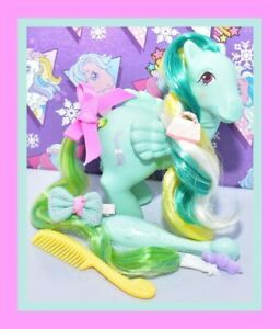 My-Little-Pony-MLP-G1-Vtg-Brush-n-Grow-Braided-Beauty-Pegasus-amp-Accessories