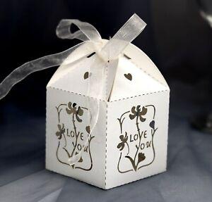 Laser-Cut-Rose-Flower-Chocolate-Candy-Boxes-Wedding-Favor-Bridal-Shower