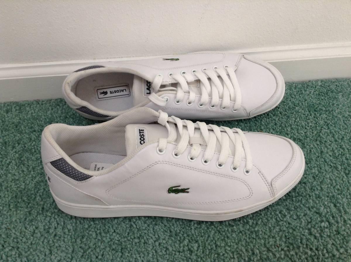 le modèle classique de magasin magasin magasin chaussures d'athlétisme blanc tennis chez lacoste, taille 12 É tats - unis 9e536b