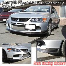 SE Style Front Bumper Lip (Carbon) Fits 06-07 Mitsubishi EVO 9