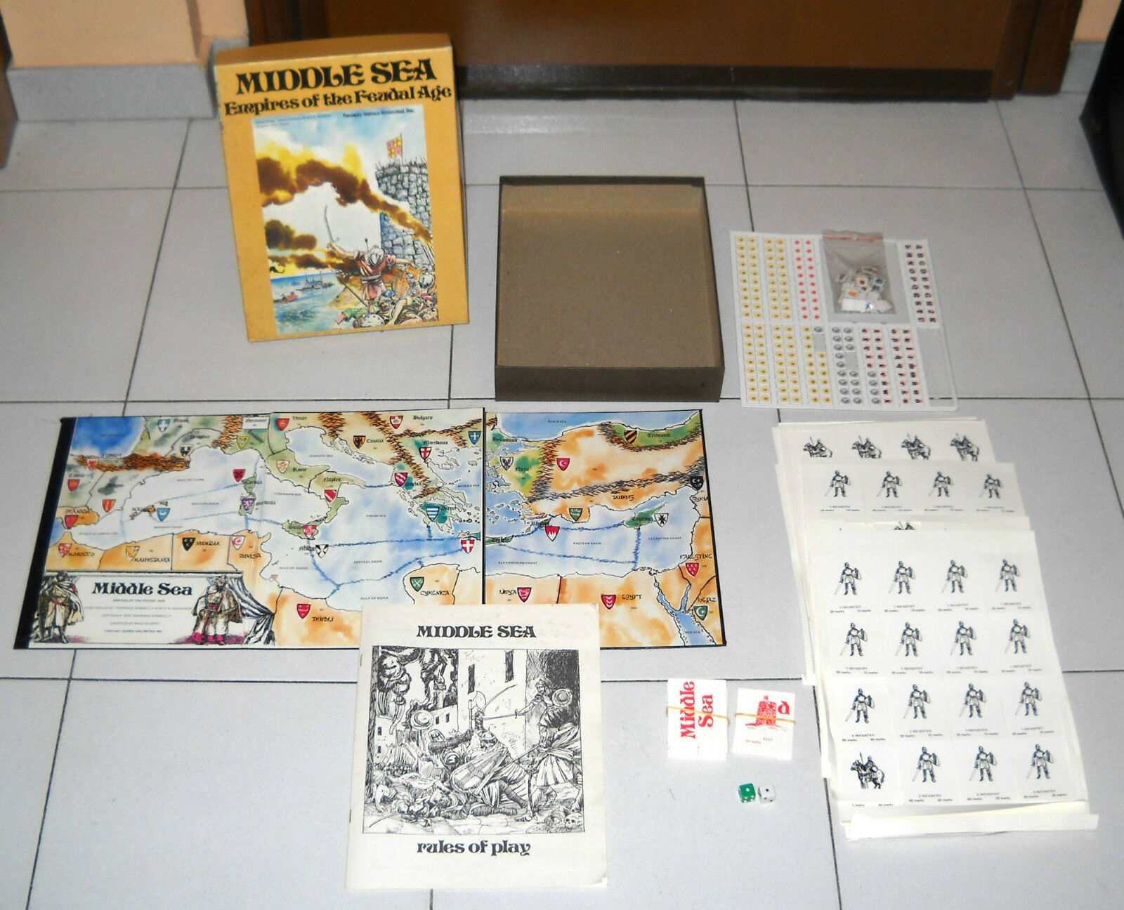 MIDDLE SEA Empires of the Féodal Âge – Fantasy games 1979 PARFAIT