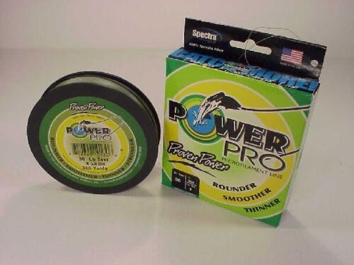 environ 13.61 kg vert mousse environ 274.32 m nous expédions dans le monde entier! Power Pro Braided Spectra Line 30 lb X 300 Yd