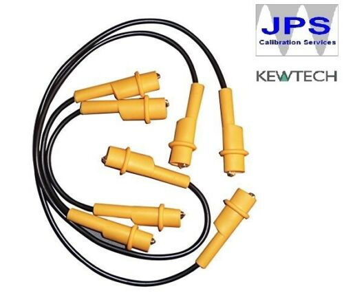 Kewtech Jumper Jump Leads Cables for Insulation /& R1+R2 testing Set of 4 JPST041
