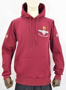 British-Army-Parachute-Regiment-Hooded-Top-Hoodie-Sweat-Top-Embroidered-Badge