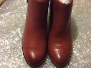 7391aabadaa9 Wolverine 1000 Mile Samantha Pleet Boots Rust Cap Toe Leather 7M B ...