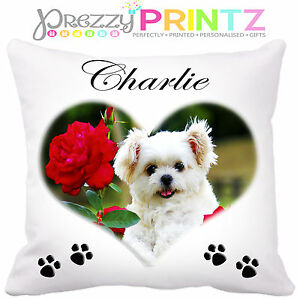 Image Is Loading PERSONALISED PET CUSHION GIFT DOGS CATS ANY PHOTO