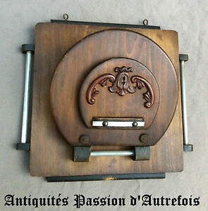 Fougueux B20120720 - Porte Courrier Vintage En Bois époque 1920-30 Surface LustréE