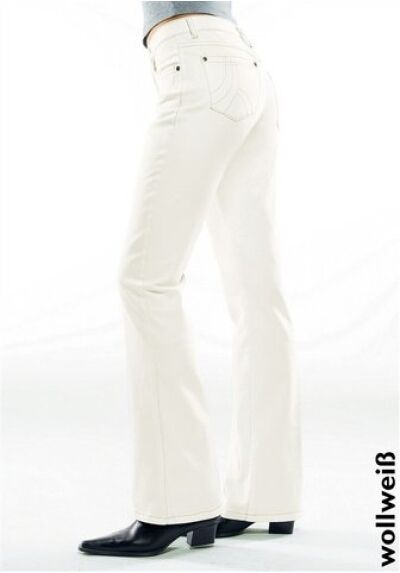 H.I.S Sunny Bootcut Jeans New Gr.34-38 Ladies Stretch Trousers Offwhite White