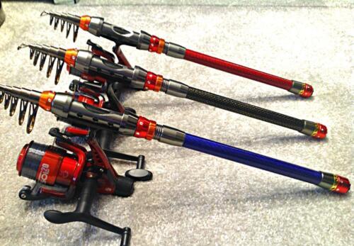 TRAVEL ROD 2.1 M or 3M BADEO FISHING ROD KAYAK ROD FREE REEL FREE POSTAGE
