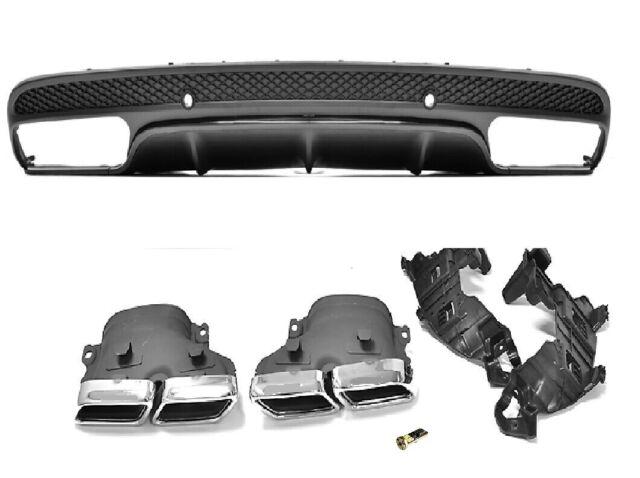 Diffusor für Mercedes-Benz C205//A205 Coupé//Cabrio AMG C63s Auspuffblenden Black