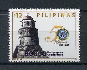 Filippine-2018-Gomma-integra-non-linguellato-dccco-MULTIUSO-COOP-dumaguete-1v-Set-cattedrali
