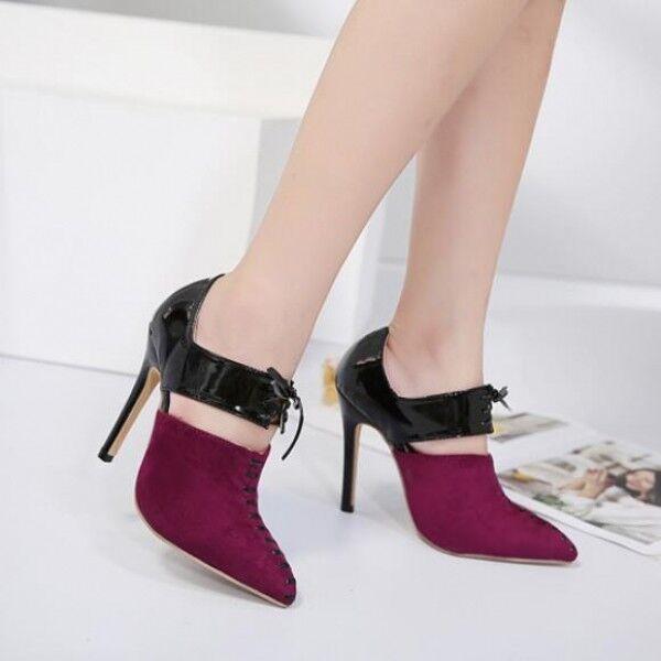 é chaussures bottes summer rose Noir  rose summer la cour épingle l é gant stiletto 11.5 cuir 8415 dfe9f3
