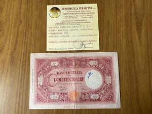 REPUBBLICA SOCIALE BANCONOTA LIRE 500 GRANDE C BI 11 11 1944 BB