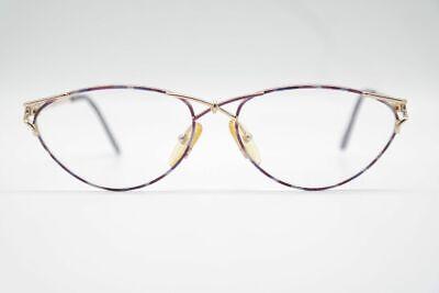2019 Ultimo Disegno Menia Vintage 326 055 56 [] 15 140 Lilla Oro Ovale Occhiali Eyeglasses Nos-