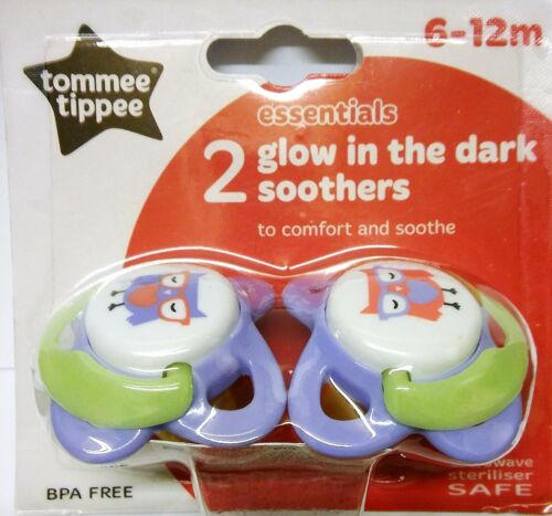 Tommee tippee essentials glow in the dark sucettes 6-12 mois