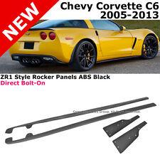 ZR1 Style Chevy Corvette 05-13 Side Skirts C6 Z06 Rocker Moulding Kit