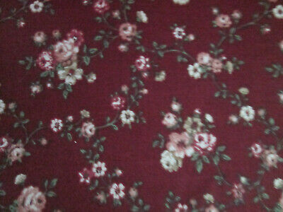 """Marcus Bros A120 35/"""" long x 45/"""" Wide Burgundy /& Cream Better Cotton Flannel"""