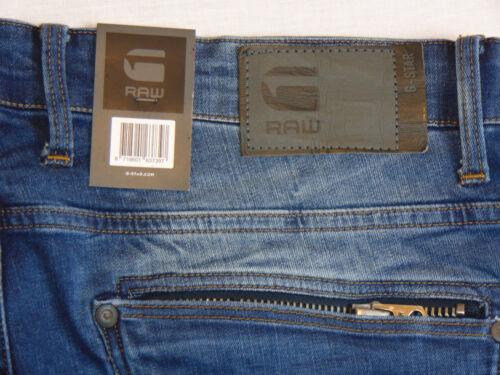 G-Star Raw ATTACC Super Slim Mens Blue Mezon Stretch Denim Jeans W34 L34