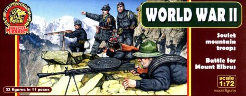 Ultima Ratio 1//72 UR-7204 WWII Soviet Mountain Troops Battle of Mount Elbrus