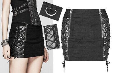 Cooperativa Mini Jupe Matelassé Laçages Gothique Punk Lolita Destroy Sexy Zip Rock Punkrave