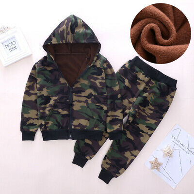 IENENS Toddler Kids Boy Camouflage Outfit Clothes Clothing Infant Boy Coat+Pants