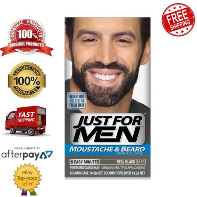 Just for Men Moustache & Beard Resistant Facial Hair Colour Gel Real Black