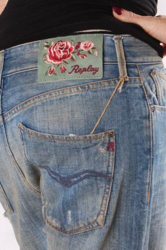 REPLAY WV657A 300 946 011 Reaped Damen Jeans Blauer Denim