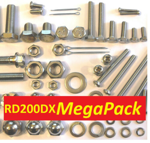 Screw Stainless Fasteners MegaPack Bolt Yamaha RD200DX Nut