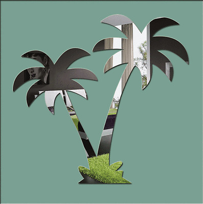 Acrylic 'Palm Trees' Mirror - Range of Sizes