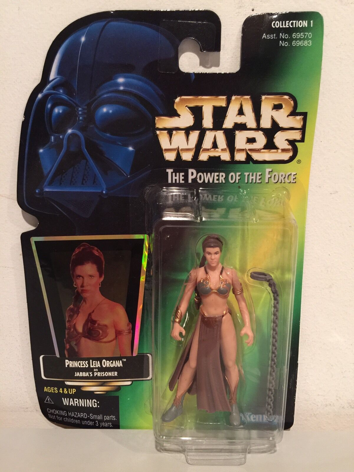 Star Wars Princess Leia Organa as Jabbas Slave POTF Action Figure Kenner