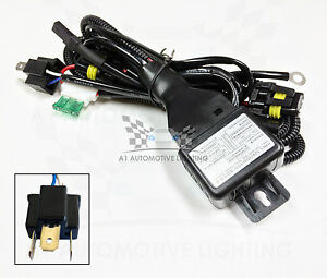 s l300 hid relay harness h4 (9003 hb2) 12v 35w 55w bi xenon hi lo h l Custom Auto Wire Harness H4 at aneh.co