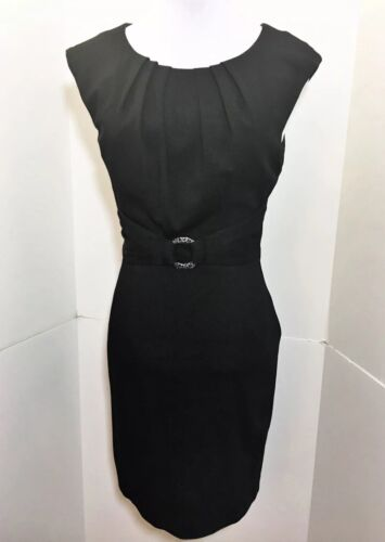 Trina Turk Small 4 Annika Black Bodycon Dress LBD
