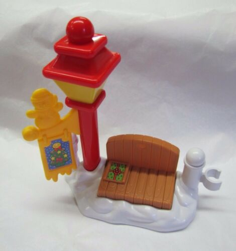 Fisher Price Little People CHRISTMAS LAMP POST BENCH Winter Holiday FENCE NEW