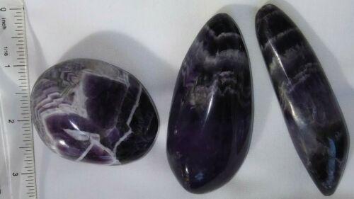 "1 Polished Chevron Amethyst Free Form Very Good Quality 2-1//3/"" 4-3//4/"" Zambia"