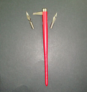 Calligraphie Porte Plume A Tirette Bic Rouge 2 Plumes Offertes Pen