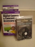 Vidpro 5 Piece Digital Camera & Camcorder Accessory Kit W/ Bowman Lens Cap Hold