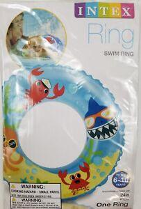 INTEX-Tube-Inflatable-Swimming-Beach-Pool-Float-24-034-Ring-Sea-Creatures-6-10years