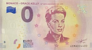 BILLET-0-EURO-MONACO-GRACE-KELLY-2018-NUMERO-4400
