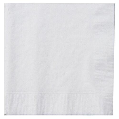 1000 x White Paper Napkins 1 Ply 33cm Economy 4 Fold Tissue Serviettes