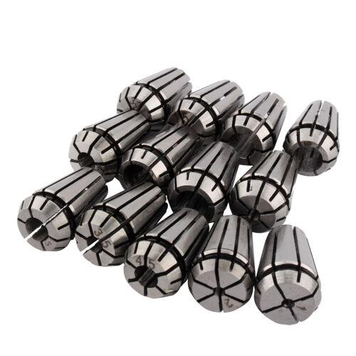 13-tlg Spannzangen Set für Graviermaschine Fräsmaschinen Futter 1-7 mm ER11 NEU