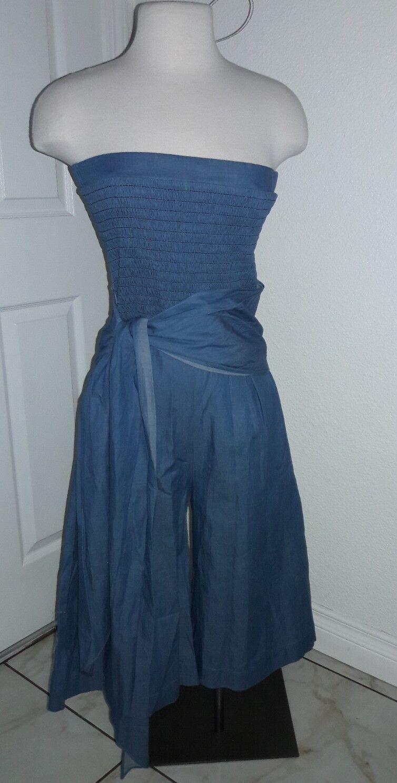 Three of Something boho denim jumpsuit Size XS NWT