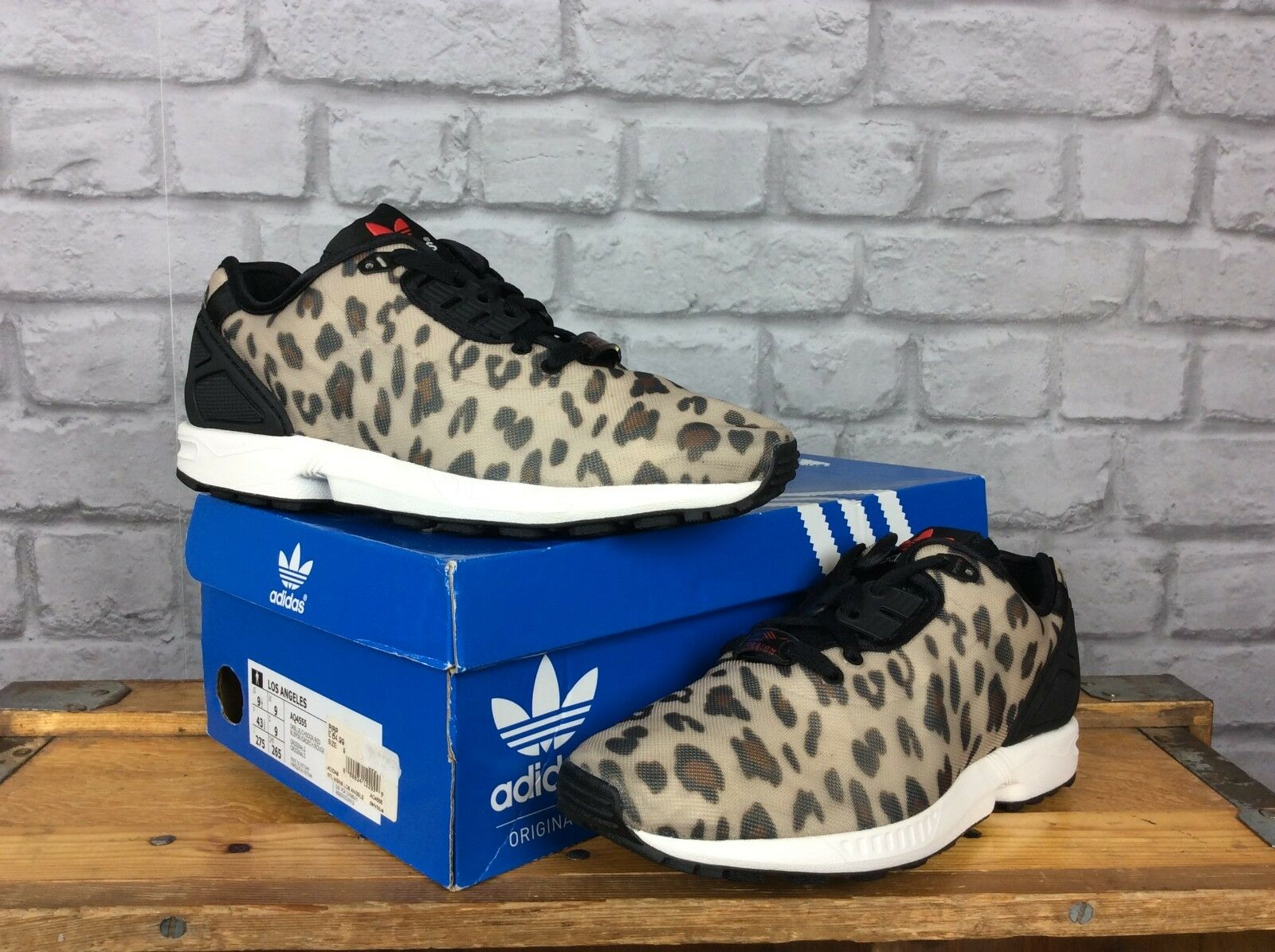 ADIDAS6.5 EU 40 ZX FLUX TORSION DECON LEOPARD PRINT TRAINERS 85 homme LADIES