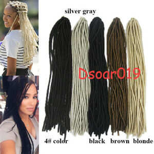 20 Faux Locs For Women Synthetic Fiber Twist Braids Crochet Hair