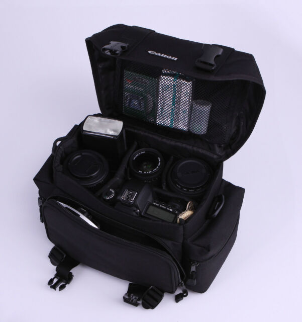 Portable Camera Case Canon Gadget Shoulder Carry Bag 2400/9361 Black DSLR Travel
