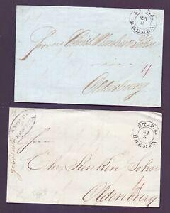 2-Vorphilabriefe-Bremen-1844-1845-mit-Stempel-Stadtpostamt-nach-Oldenburg-108